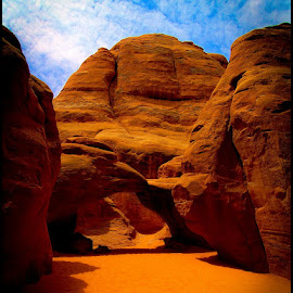 Sand Dune Arch by Fred Coleman - Nature Up Close Rock & Stone ( moab, national park, arch, utah, sand dune )