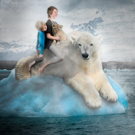 crossing the water by Stephen  Barker - Digital Art People