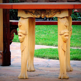 Ornate Table Legs by Becky Luschei - Artistic Objects Furniture ( carved, ornate, legs, uniquely, table, beautifully, gazebo, standing )