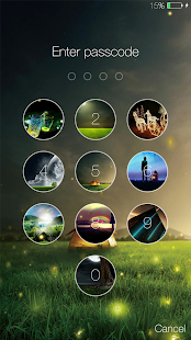 Fireflies lockscreen APK for Bluestacks