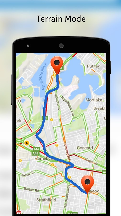 MAPS, GPS, Navigations- und Routensucher android apps download on