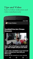 Screenshot of Men's Triceps Workout