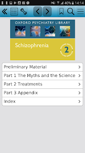 Schizophrenia (Oxford Psychiatry Library), 2ed screenshot for Android