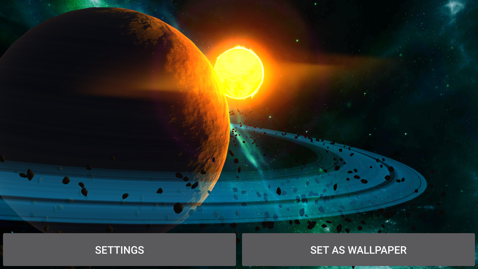 3D Galaxy Pack Live Wallpaper Screenshot 13