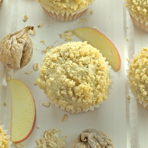 Apple Fig & Oatmeal Muffins