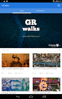 Screenshot of GR Walks