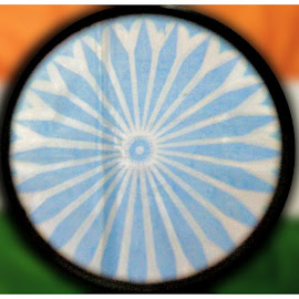 Independence Day by Sudipto Banerjee - Abstract Macro ( flag, india, independence day )