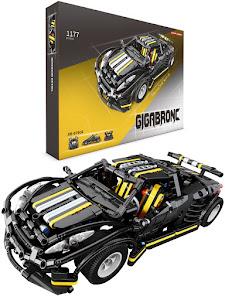 """Конструктор серии """"BrickBattle"""", спорткар, Автоспорт, черный-желтый"""