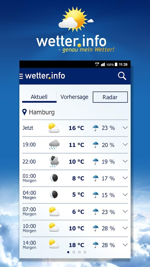 wetter.info Screenshot 0