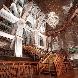 Salt mine Wieliczka by Paweł Mielko - Buildings & Architecture Other Interior ( mine, salt, salt mine, poland, stairs, tourism, krakow, cracow, wood, polish, europe, wieliczka, architecture )