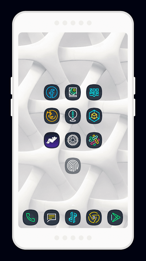 Nightmare Squircle ~ Dark S8/Note8 Icon Pack Screenshot 1
