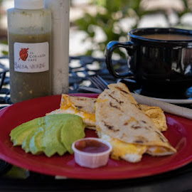 Breakfast Quesadillas by Vonelle Swanson - Food & Drink Plated Food