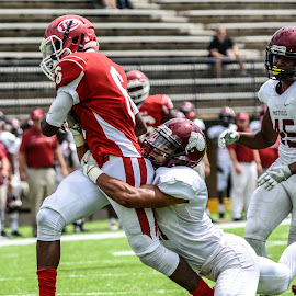 Hanging on for Dear Life by Jackie Nix - Sports & Fitness American and Canadian football ( athletics, football, sports, robert e lee high school, prattville high school )