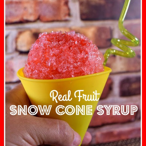 Raspberry Peach Real Fruit Homemade Snow Cone Syrup