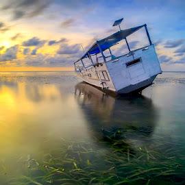 The Rest Boat by Iccang Ninol - Transportation Boats ( satanger, seascape, sunrise, landscape, boat )