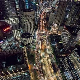Sudirman by Palus Liem - City,  Street & Park  Skylines ( city at night, street at night, park at night, nightlife, night life, nighttime in the city )