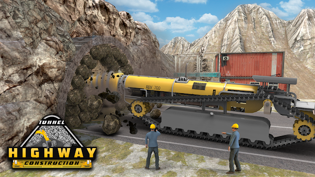 Highway Tunnel Construction & Cargo Simulator 2018 APK screenshot thumbnail 6