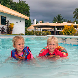 In The Pool by Geoffrey Wols - Babies & Children Toddlers ( pool, hotel, cebu, philippines, water, kids,  )