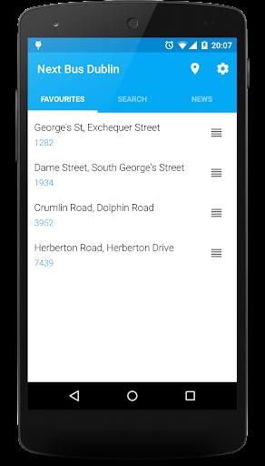 Next Bus Dublin - screenshot