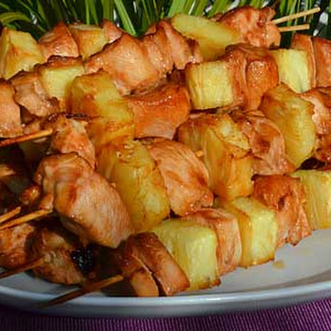 Kebab In The Oven With Chicken And Pineapple