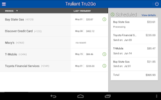 Screenshot of Tru2Go Truliant Mobile Banking