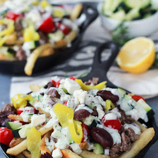 Skinny Greek Loaded French Fry Nachos
