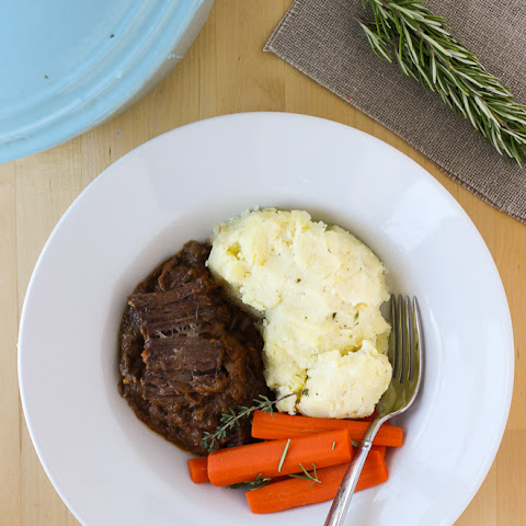 Slow-Cooker Pot Roast with Porcini Mushroom Gravy {Gluten-Free}