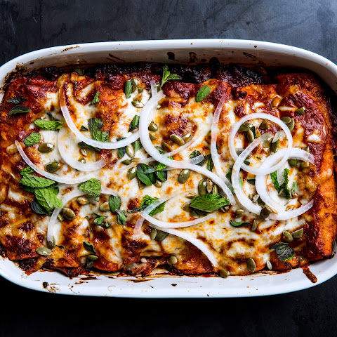 Winter Squash and Short-Rib Enchiladas
