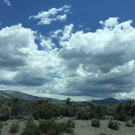 Clouds on the Praire  by Mary Malinconico - Instagram & Mobile iPhone ( clouds, desert )