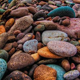 Rock by Don Malcolm - Nature Up Close Rock & Stone ( color, zen, beach, rocks, shapes )