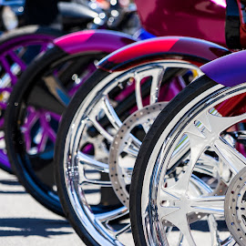 Bagger Wheels by Gary Piazza - Transportation Motorcycles ( harley davidson, motorcycles, bikes, pendleton bike week, custom bike, bike show )