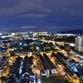 Only in Penang by Lay Kiat Tan - City,  Street & Park  Skylines ( #malaysia, #nightview, #penang, #bukitjambul )