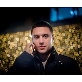 Calling her! by Marko Icelic - People Portraits of Men ( 58mm, old, new year, street art, helios, calling, bokeh, photography, dslr, city, love, lights, swirly, focus, nikon, f2, chillin, 44-2, wire, belgrade, bubbles, lens, portrait, manual, session, serbia, d7000, walk, friend )