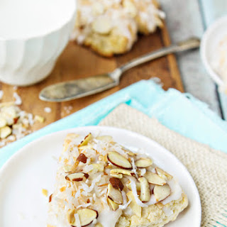 Toasted Almond and Coconut Scones
