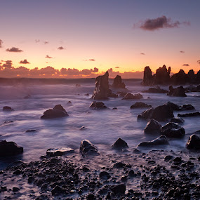 Alien World by Henrik Spranz - Landscapes Beaches ( waves, sunset, lanzarote, sea, ocean, beach, rocks, coast )