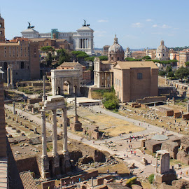 Roman Forum (in the photos) by Alin Gavriluta - City,  Street & Park  Historic Districts