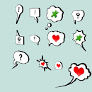 3D Speech bubbles / think bubbles (12 versions)