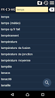 Screenshot of French Malagasy Dictionary