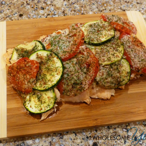 Almond Dill Crusted Salmon with Zucchini (Gluten-Free)