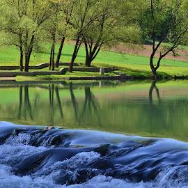Korana river by Gordana Trošić-Kliska - Nature Up Close Water ( water, nature, croatia, travel, river )