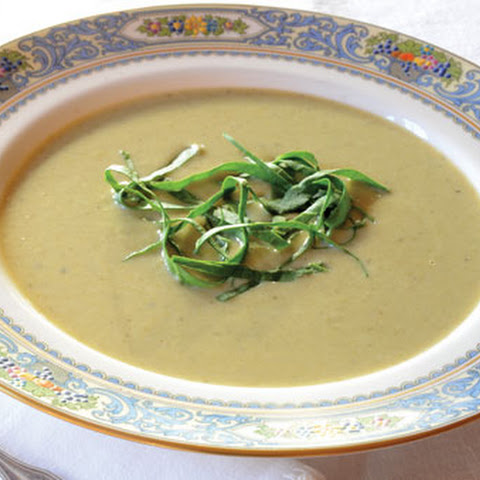 Creamy Parsnip Soup with Sorrel