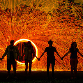 Togetherness in Life by Nassery Naz - Abstract Fire & Fireworks