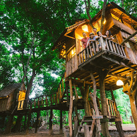 Treehouse by Bebe Leong - Landscapes Forests ( forests, chiangmai, nature, tree, thailand, treehouse, forest, travel, escape )