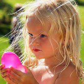 by Luanne Bullard Everden - Babies & Children Children Candids ( girls, water balloons, children )