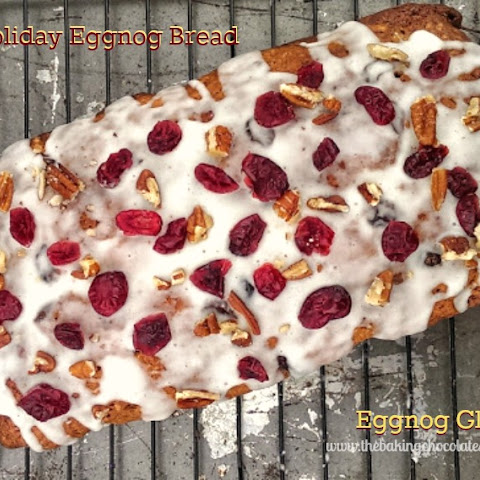 Holiday Eggnog Bread with Eggnog Glaze