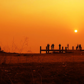sunset by Gaurav Bhave - Digital Art Places ( mobilography, colorful, sunset, beauty in nature, travel, destination )