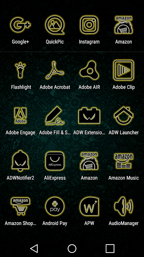 Glowist Yellowish - Icon Pack Screenshot 1