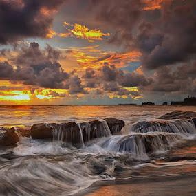 Another Paradise by Hendri Suhandi - Landscapes Sunsets & Sunrises ( bali, sunset, cloud, rock, beach, sunrise, landscape, sun )