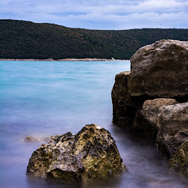 by Elvis Catela - Landscapes Beaches ( water, clouds, colorful, color, sea, long exposure, rock, rock formation, long, rocks, close )