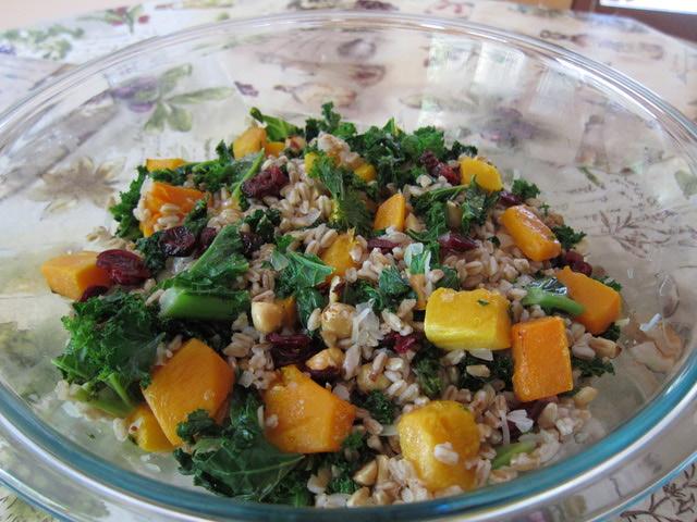 Butternut Squash and Farro Salad Recipe | Yummly